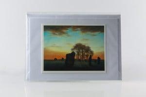 'Avebury Dawn' Handmade Art Greeting Card