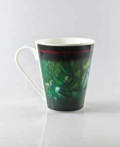 Colour Changing Mug - Waterfall Triptych Painting 3