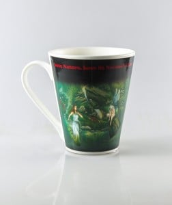 Colour Changing Mug - Waterfall Triptych Painting 1