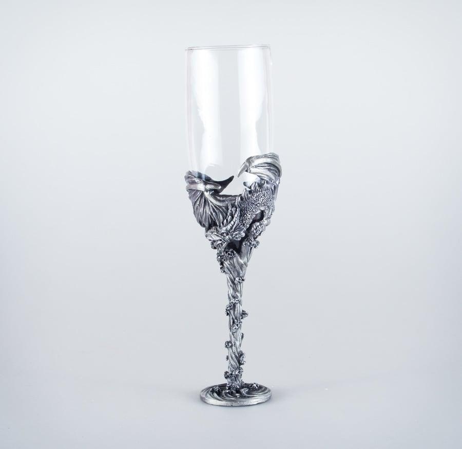 Dragon Claw Champagne Flute