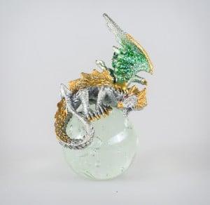 Green/Gold Dragon on Crystal Ball