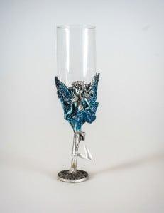 Little Blue Fairy Champagne Flute