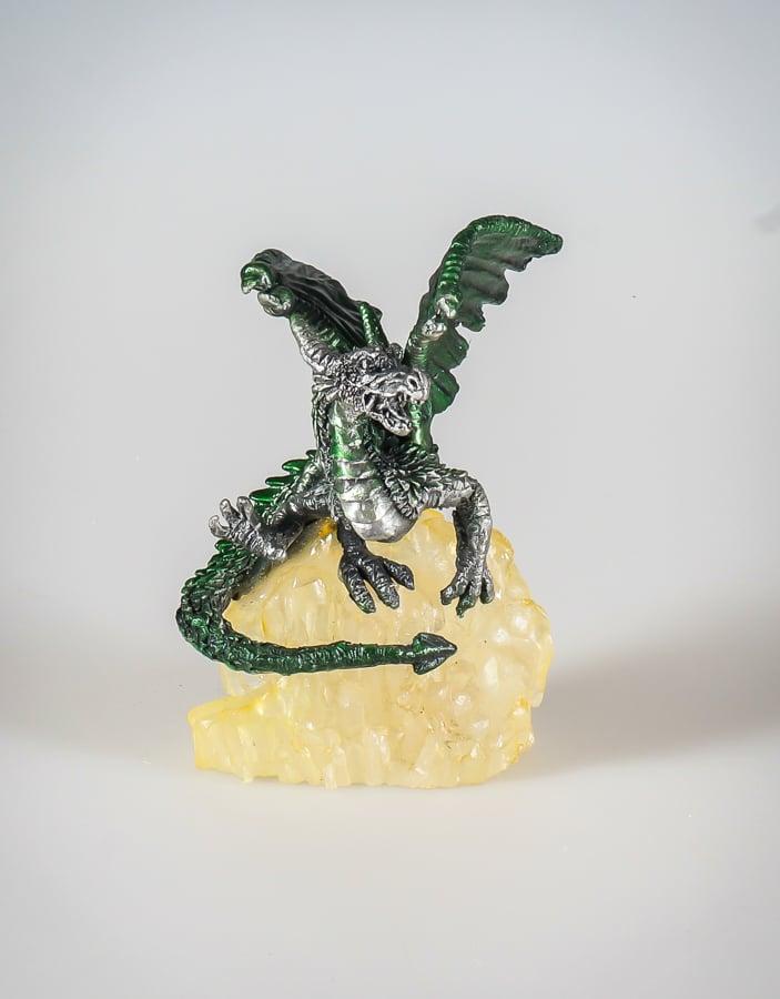 Green Dragon on Crystal
