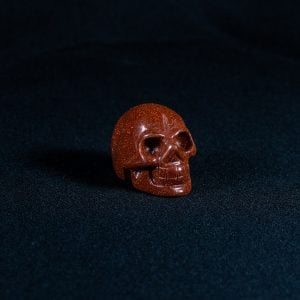Crystal Skull Mini – Goldstone