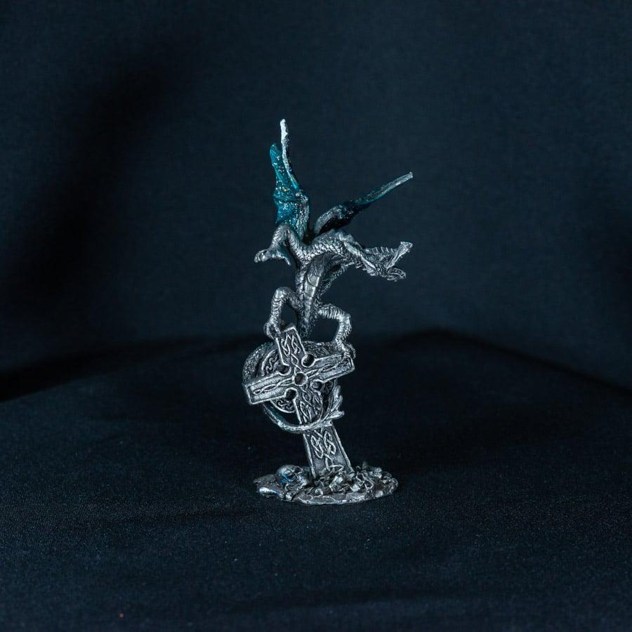 Blue Dragon on Cross