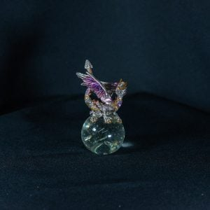Purple/Gold Dragon on Crystal Ball 1