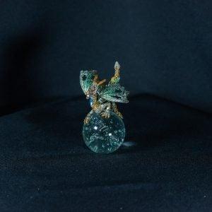 Green/Gold Dragon on Crystal Ball 1