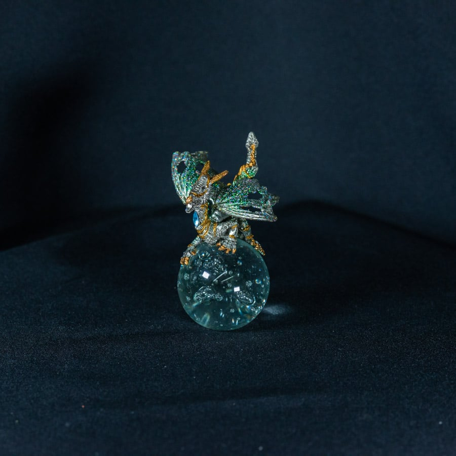Green/Gold Dragon on Crystal Ball 1