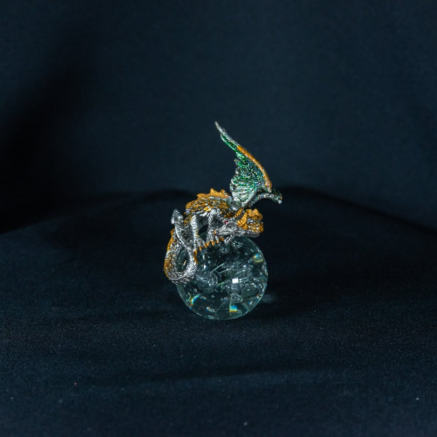 Green/Gold Dragon on Crystal Ball 2