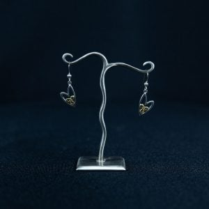 Celtic Trinity Knot Heart Earrings
