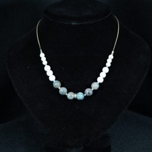 Blue Chalcedony & White Howlite Necklace