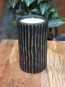 Wooden Candle Holder - Large (with candle)