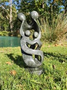Shona Stone Statue – family of 4 (large)