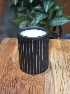 Wooden Candle Holder - Medium (with candle)
