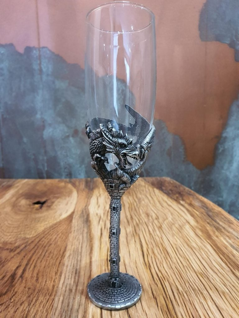 Dragon Castle Champagne Flute - Single Glass