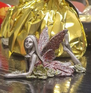 Pewter Laying Fairy